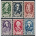 FRANCE - 1949 Famous 18th Century Frenchmen set of 6, MNH – Michel # 871-876