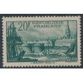 FRANCE - 1938 20Fr deep blue-green St. Malo Harbour, MH – Michel # 415