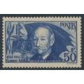 FRANCE - 1938 50Fr blue Clément Ader (thin paper), MH – Michel # 425a