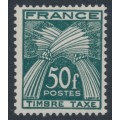 FRANCE - 1950 50Fr deep green Postage Due, MNH – Michel # P91