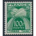 FRANCE - 1950 100Fr green Postage Due, MNH – Michel # P92