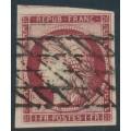FRANCE - 1849 1Fr carmine Cérès, imperforate, used – Michel # 7a