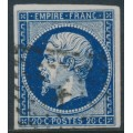 FRANCE - 1853 20c deep blue Emperor Napoléon (type I), imperf., used – Michel # 13Ic