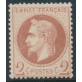 FRANCE - 1862 2c red-brown Emperor Napoléon with laurel wreath, perf. 14:13½, MNG – Michel # 25