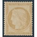 FRANCE - 1871 15c yellow-brown Cérès, perf. 14:13½, MNG – Michel # 50