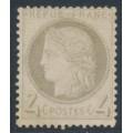 FRANCE - 1872 4c yellowish grey Cérès, perf. 14:13½, MH– Michel # 47