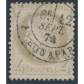 FRANCE - 1872 4c yellowish grey Cérès, perf. 14:13½, used – Michel # 47