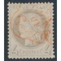 FRANCE - 1872 4c grey Cérès, perf. 14:13½, used – Michel # 47