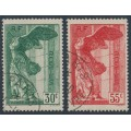 FRANCE - 1937 National Museum set of 2, used – Michel # 359-360