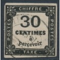 FRANCE - 1878 30c black Postage Due, imperforate, used – Michel # P8
