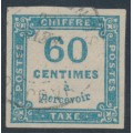 FRANCE - 1878 60c blue Postage Due, imperforate, used – Michel # P9a