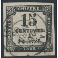 FRANCE - 1863 15c black Postage Due, imperforate, used – Michel # P3