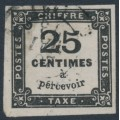FRANCE - 1871 25c black Postage Due, imperforate, used – Michel # P5