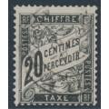 FRANCE - 1882 20c black Postage Due, used – Michel # P17