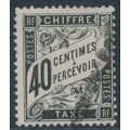 FRANCE - 1882 40c black Postage Due, used – Michel # P19