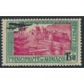 MONACO - 1933 1.50Fr on 5Fr blue-green/rose-red Airmail overprint, MH – Michel # 137