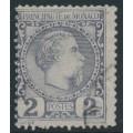 MONACO - 1885 2c dull purple Prince Charles III, used – Michel # 2