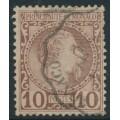 MONACO - 1885 10c red-brown on buff Prince Charles III, used – Michel # 4