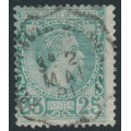 MONACO - 1885 25c blue-green Prince Charles III, used – Michel # 6