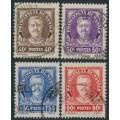 MONACO - 1933 40c to 1.50Fr Prince Louis II set of 4, used – Michel # 116-119