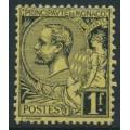 MONACO - 1891 1Fr black on deep yellow Prince Albert I, MH – Michel # 20y