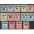 MONACO - 1937 POSTES overprints on Postage Dues set of 14, MH – Michel # 149-162