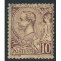 MONACO - 1891 10c brown-red on buff Prince Albert I, used – Michel # 14