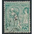 MONACO - 1891 25c green Prince Albert I, used – Michel # 16
