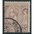 MONACO - 1894 75c violet-brown on buff Prince Albert I, used – Michel # 19a