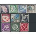 MONACO - 1953 1Fr to 200Fr Helsinki Olympics set of 10, MH – Michel # 458-467