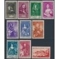 MONACO - 1939 Royal Historical Figures set of 10, MH – Michel # 190-199