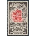 MONACO - 1955 100Fr brown/red Monte Carlo Rally, MH – Michel # 496