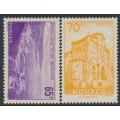 MONACO - 1957 65Fr violet & 70Fr orange Views of Monaco set of 2, MNH – Michel # 585-586