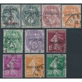 ANDORRA - 1931 ½c to 30c French issues overprinted ANDORRE set of 10, used – Michel # 1-10
