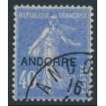 ANDORRA - 1931 40c ultramarine Semeuse overprinted ANDORRE, used – Michel # 11