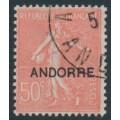 ANDORRA - 1931 50c red Semeuse overprinted ANDORRE, used – Michel # 13