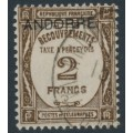 ANDORRA - 1932 2Fr deep brown French Postage Due o/p ANDORRE, used – Michel # P15