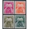 ANDORRA - 1961 0.05Fr to 0.50Fr Postage Dues set of 4, MH – Michel # P42-P45