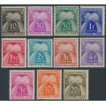 ANDORRA - 1943 10c to 20Fr Postage Dues (Chiffre Taxe) set of 11, MH – Michel # P21-P31