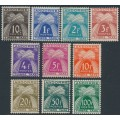 ANDORRA - 1946 10c to 100Fr Postage Dues (Timbre Taxe) set of 10, MH – Michel # P32-P41
