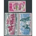 ANDORRA - 1963 History of Andorra set of 3, used – Michel # 179-181