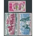 ANDORRA - 1963 History of Andorra set of 3, used – Michel # 179-181