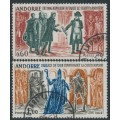 ANDORRA - 1964 History of Andorra set of 2, used – Michel # 183-184