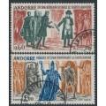 ANDORRA - 1964 History of Andorra set of 2, used – Michel # 183-184