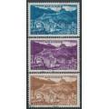 ANDORRA - 1957 35Fr to 70Fr Les Bons set of 3, used – Michel # 161-163