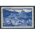 ANDORRA - 1955 30Fr ultramarine Les Bons, used – Michel # 154