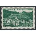 ANDORRA - 1955 40Fr deep green Les Bons, MH – Michel # 155