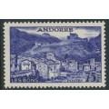 ANDORRA - 1955 75Fr blue-violet Les Bons, MH – Michel # 157