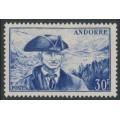 ANDORRA - 1951 30Fr blue Antoni Fiter i Rossell, MH – Michel # 138