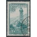 ANDORRA - 1932 65c blue-green Sant Miquel d'Engolasters, used – Michel # 36
